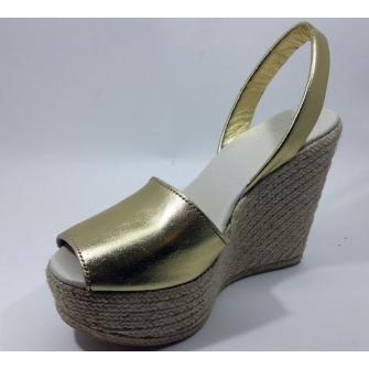 Sandale Menorquine semelle compense espadrille