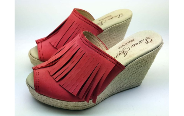 Sandale plate-forme de Jute