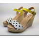 Sandalia Plataforma Yute Piel, Glitter y Laminados