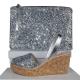 Abarca Spanish Glitter Silver