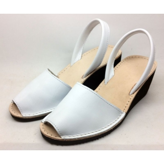 spanish leather sandals wedge