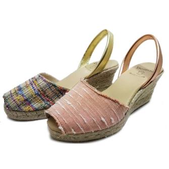 Menorca sandal wedge esparto