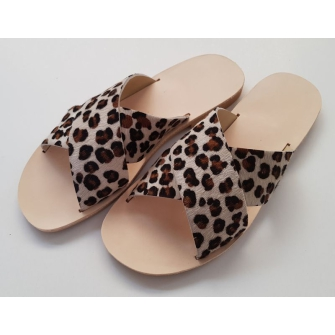 Greek Sandals Animal Print